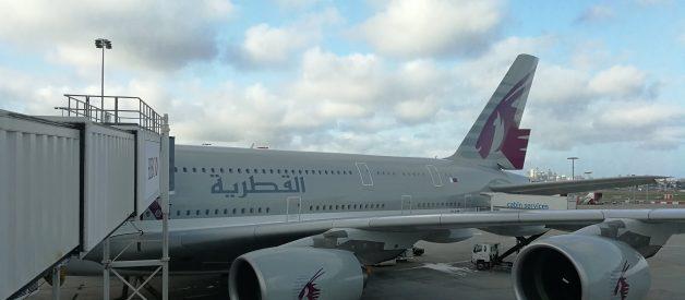 Airbus A 380 Qatar Airways